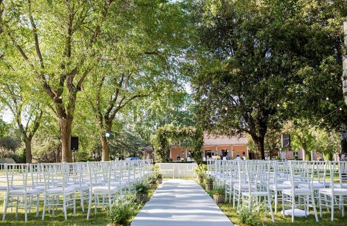 Pradera de La Casa de Mónico finca para bodas en Madrid