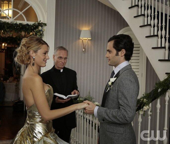 Look de novia inspirado en Gossip Girl para una boda en año nuevo - Foto The CW