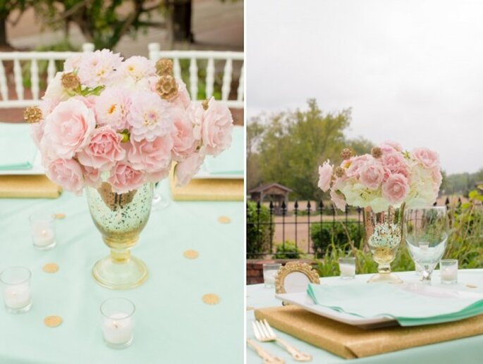 Boda en color menta para primavera 2014 - Foto Twila's Photography