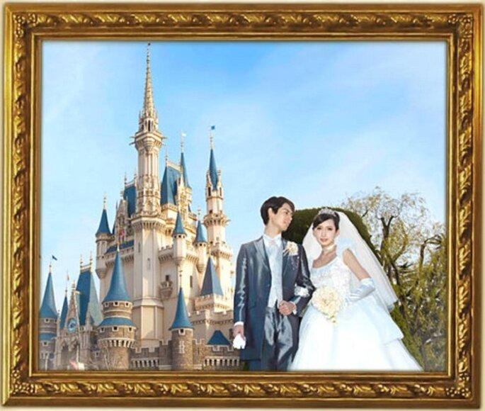 Matrimonio a Disneyland Tokyo. Foto: www.disneywedding.jp