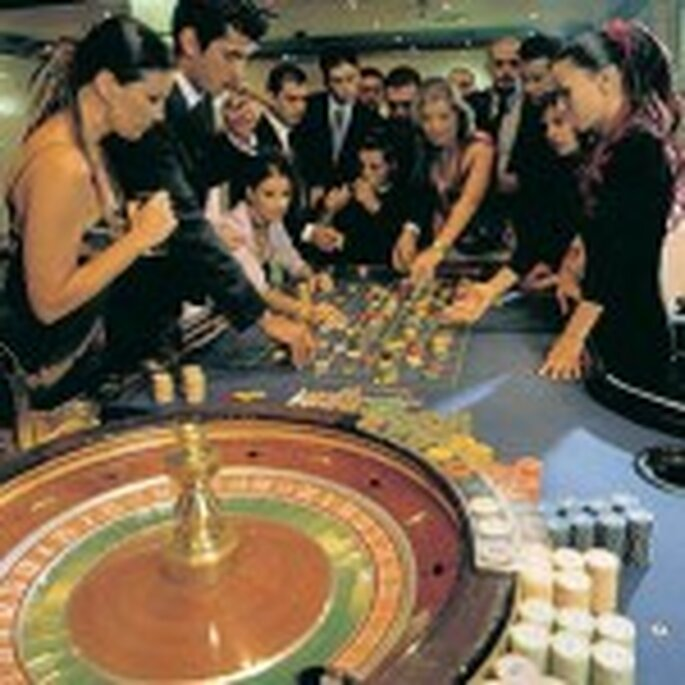 A casino setting