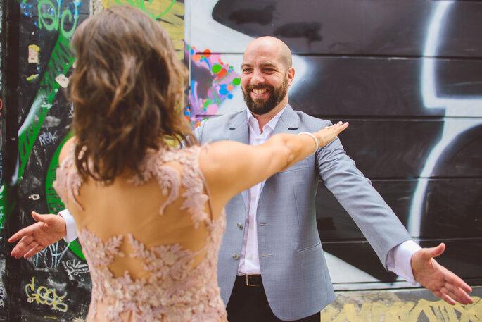 ensaio first look casamento