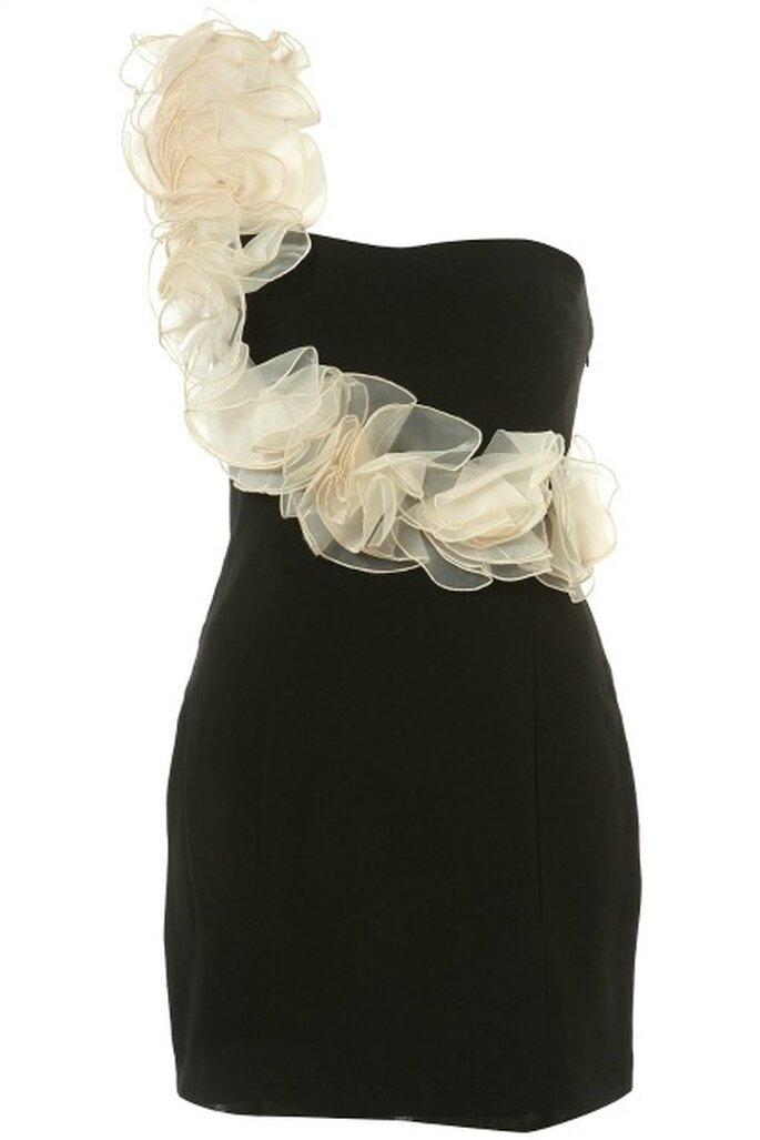 Robe avec roses en tulle appliquées sur la bretelle - Topshop 65£