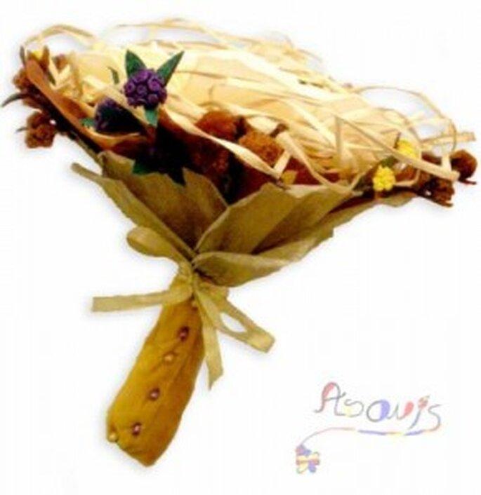 Ramo de novia hecho con origami - Artesanum