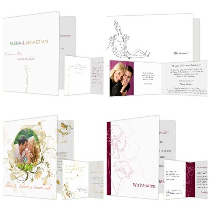 Vielfältige Auswahl, qualitativ hochwertiges Papier - Foto: www.hochzeitskarten-traum.de