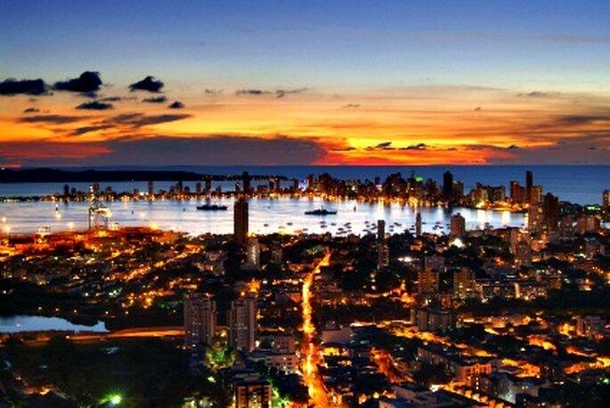 Atardecer en Cartagena de Indias desde La Popa