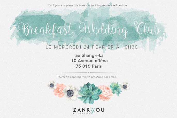 Invitation Breakfast Wedding Club