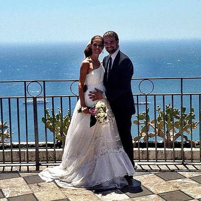 El vestido de novia de Raquel Sánchez Silva ha sido un diseño exclusivo de Ion Fiz. Foto: Twitter