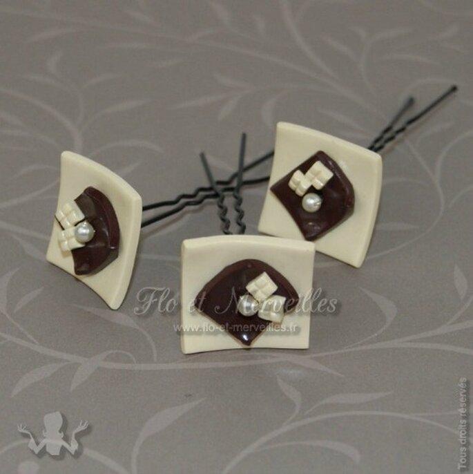Accessoires à cheveux So Choco : une vraie gourmandise de mariée ! - Photo : Flo et Merveilles
