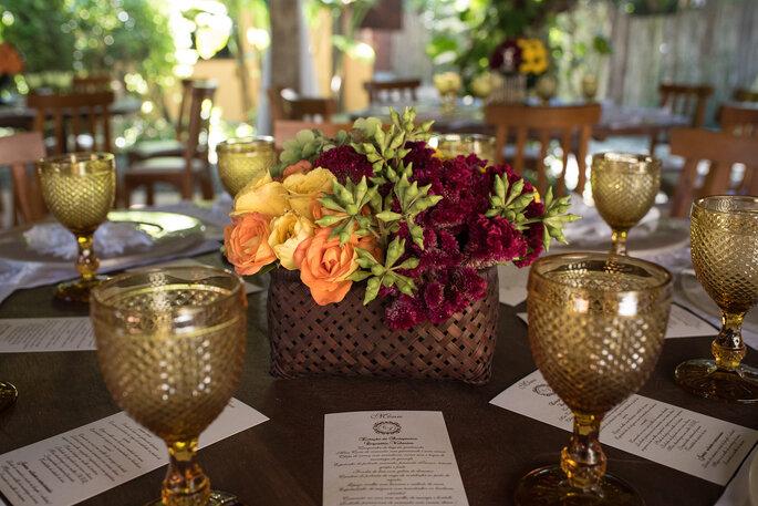 decoração de casamento tropical