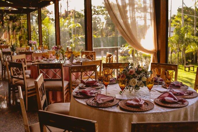 Decoração mesas festa