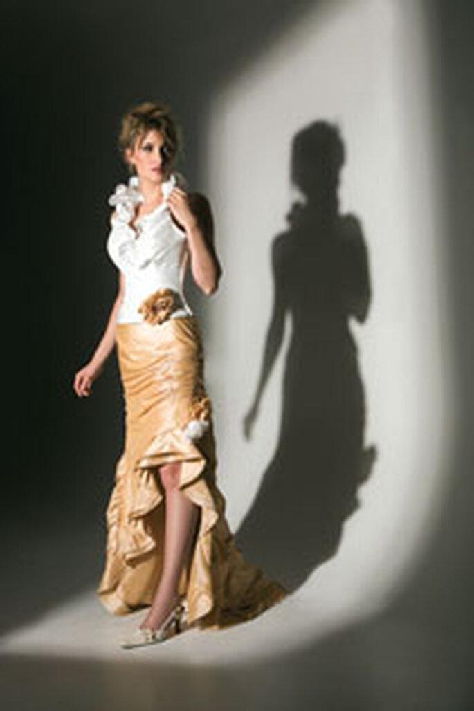 Robe de mariée longue sans bustier par Nana Couture
