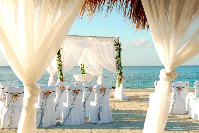 Ceremonia en la playa en Cozumel