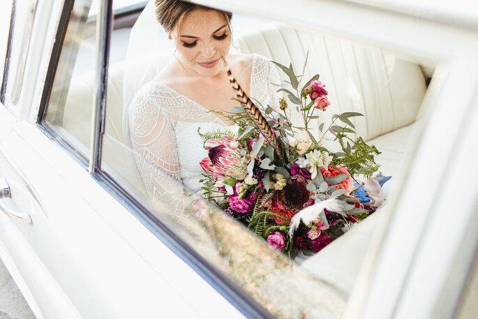 Noiva a caminho do altar