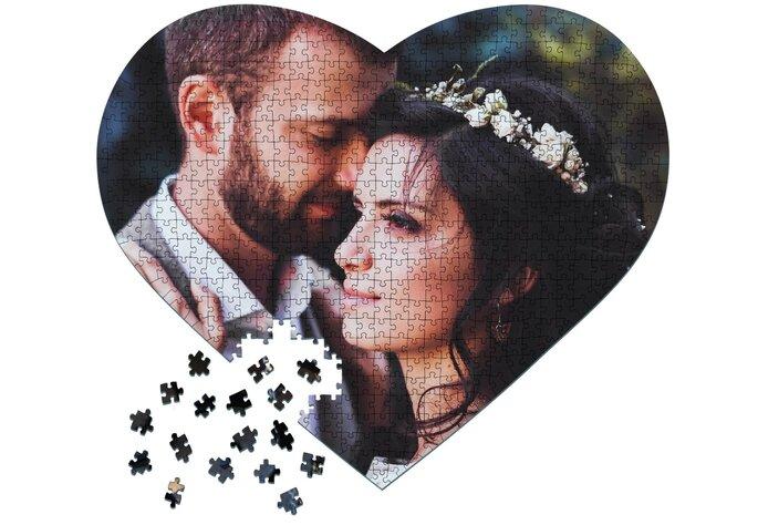 Fotopuzzle als Hochzeitsgeschenk individualisert
