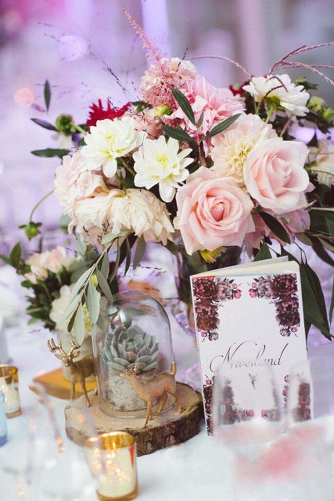 Création florale pour mariage.