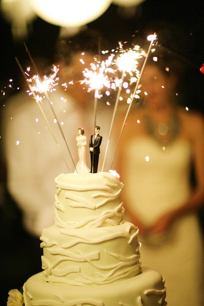 Luces de bengala en tu boda - Foto Gia Canali Photography