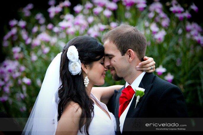 Der Blütenschmuck als Brautfrisur - Foto: Eric Velado