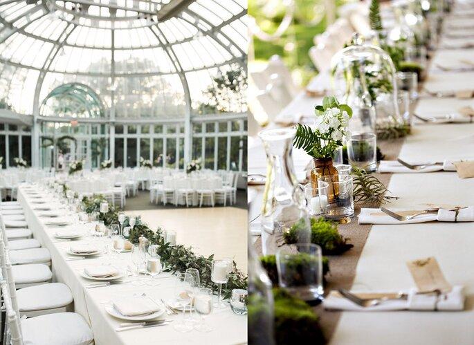 boda invernadero minimal