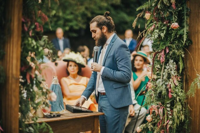 Lucas Lujan comanda a cerimônia