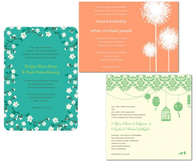 invitaciones de boda con colores y diseños en tendencia - Foto Wedding Paper Divas