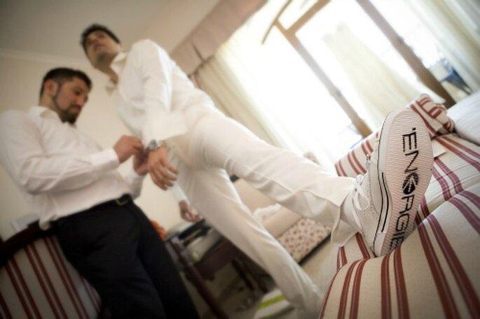 Ganar la confianza de los novios le pertmite total libertad expresiva. Foto: Krum Krumov.