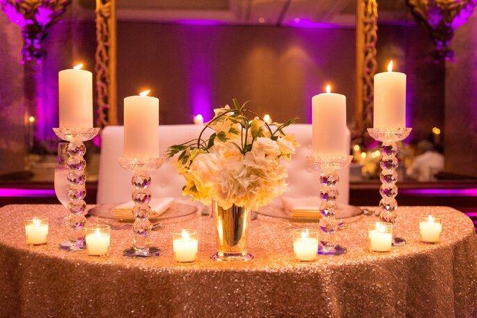 Las velas como detalle decorativo en la boda