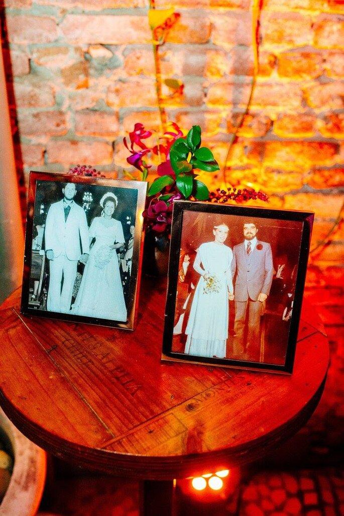Retratos antigos noivos