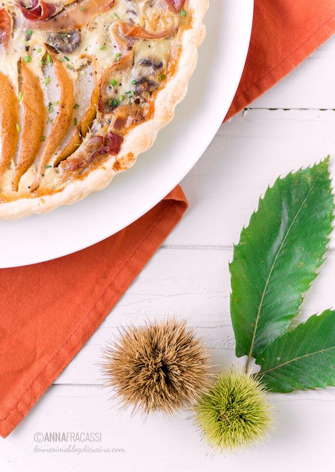 Ennesimo Blog di Cucina - Torta salata di castagne pere e speck