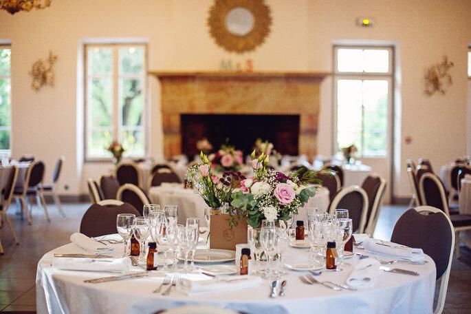 Salle de réception de mariage - décoration de table