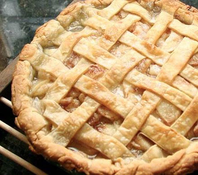 Une tarte aux pommes en centre de table, pourquoi pas ?