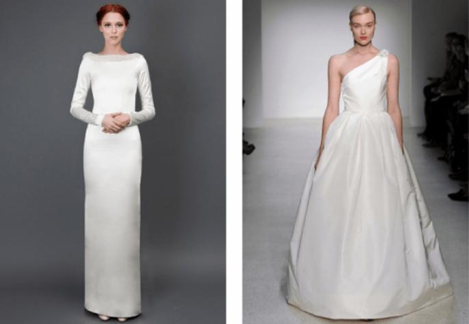 vestidos de novia 2014 con tendencia minimalista - Foto Heidi Elnora y Amsale