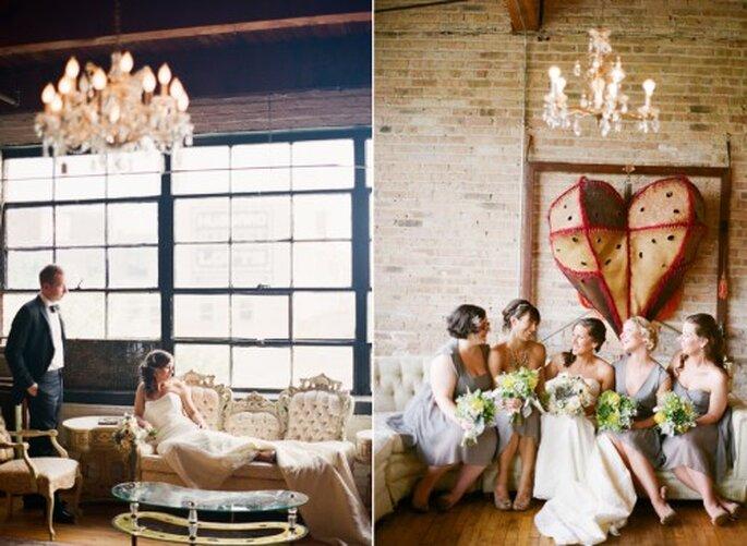 Decoración de boda con corazones. Fotografía Jeny Lynne