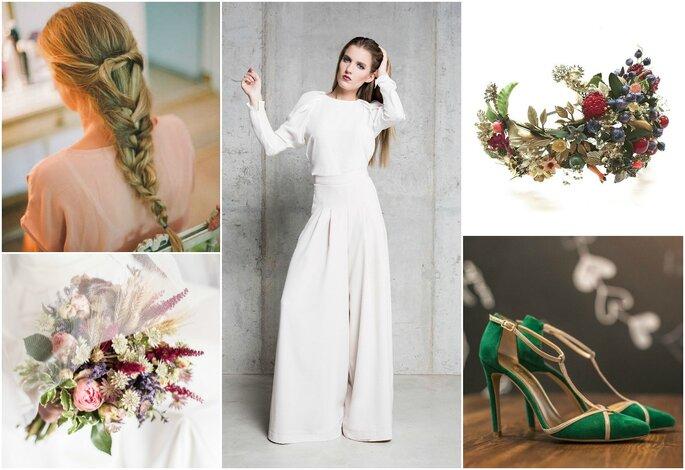 Look da semana: noiva com saia-calça