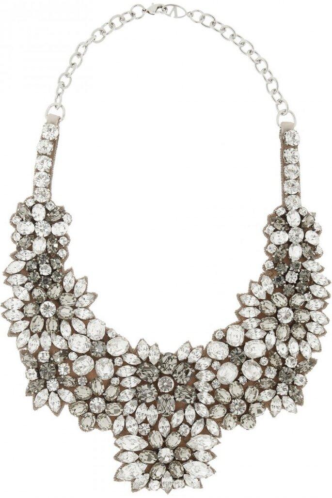 Statement necklaces para novia en tendencia - Foto Valentino