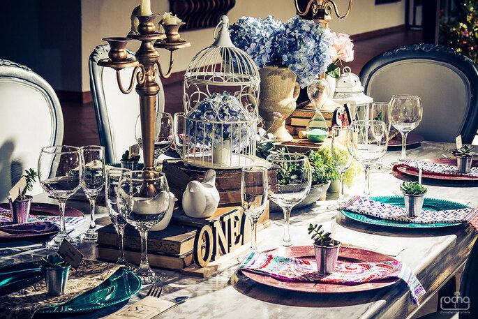 Decoración vintage: el secreto está en los pequeños detalles. Fotografía: Rocha Fotografía – Decoración: Casa Grimaldi