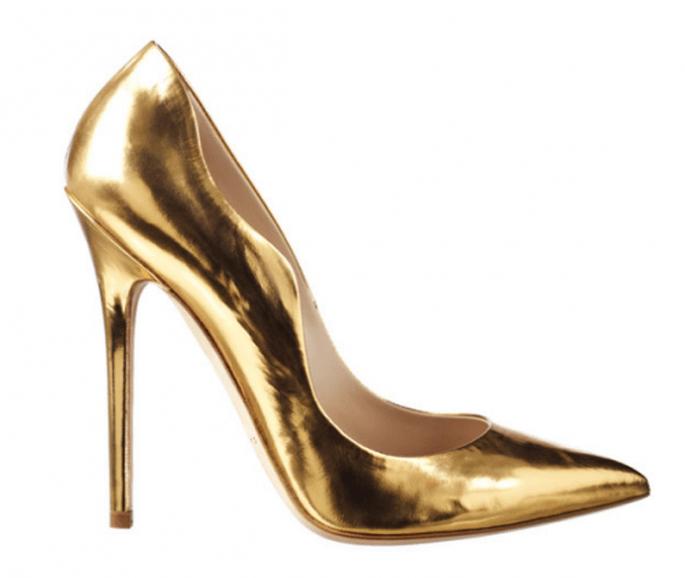 Zapatos de novia 2014 en color dorado - Foto Andrew Kayla
