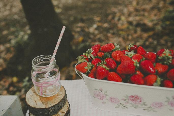 Frische Früchte für Feinschmecker an der Hochzeit. Foto: Ravelo Inspiración