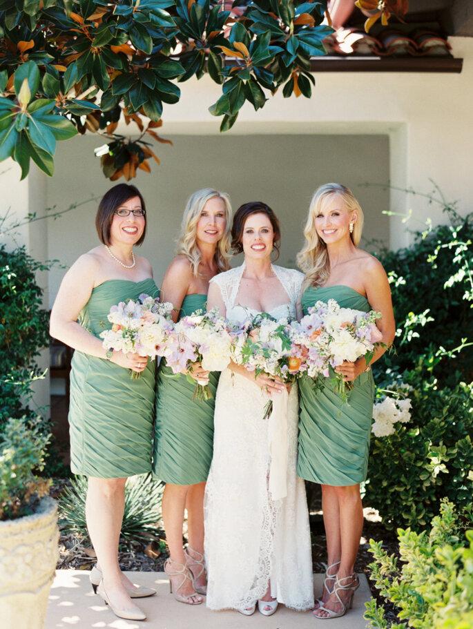 decoración de bodas en color menta - Erich McVey Photography