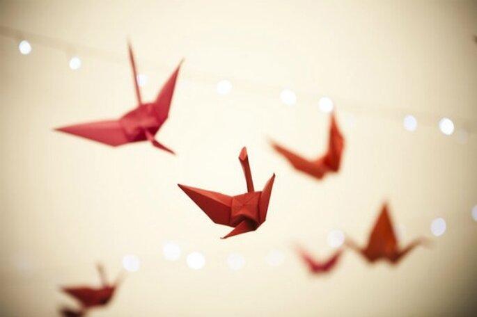 Cocottes en papier, adoptez-les pour votre déco ! - Source : Style Me Pretty