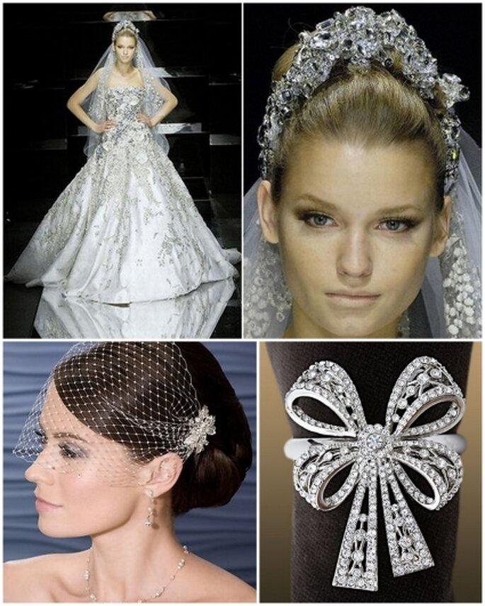 Una novia vestida de cristales de swarovsky