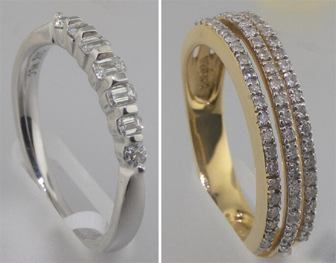 Churumbelas lisas con diamantes - Foto: Varré Joyeros