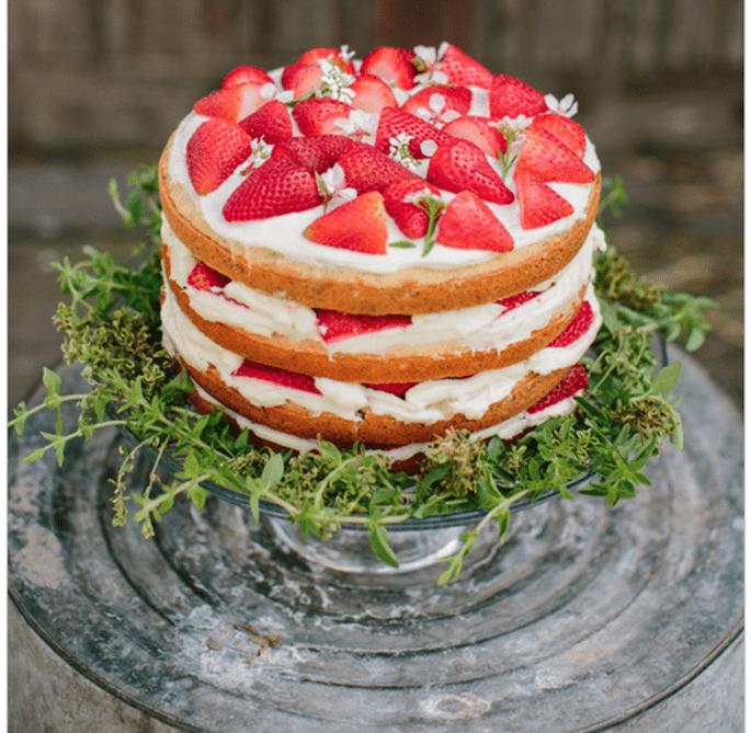 El naked cake, la tendencia más deliciosa en pasteles de boda - Foto Cluney Photo