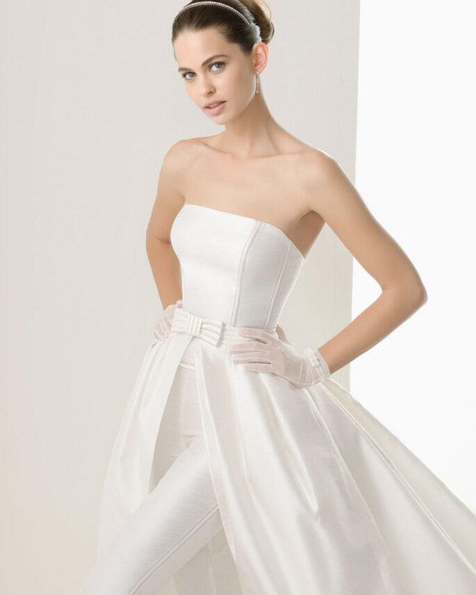 Vestido de novia Cloe de Rosa Clará 2014. Detalle. Foto: www.rosacalara.es