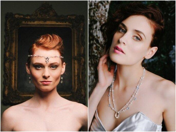 Banda para el cabello y collar con cristales - Foto Evan Laettner