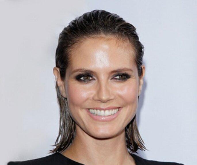 Heidi Klum - Maquillaje de novia efecto mojado