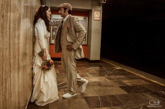 Fotografía de boda con inspiración retro - Foto Arturo Ayala