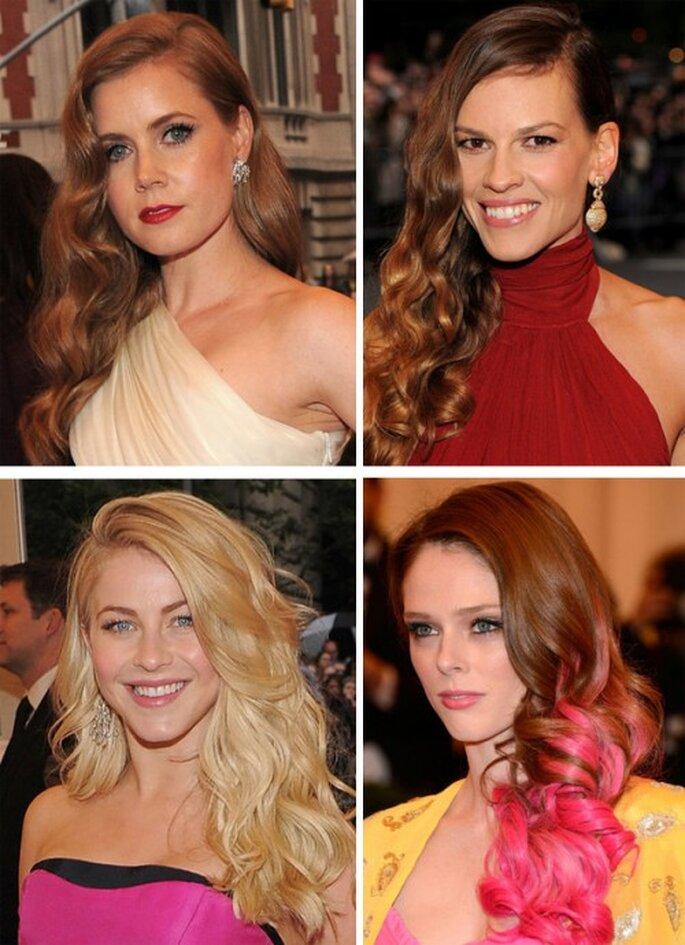Amy Adams, Hilary Swank, Julianne Hough y Coco Rocha en la MET Gala 2012 - Foto Getty