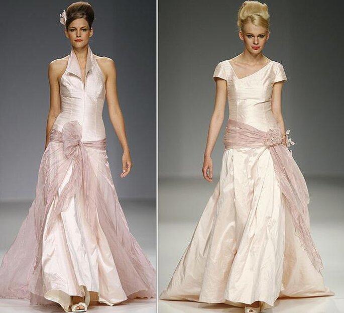 Due modelli in rosa chiaro di Ruben Palotti