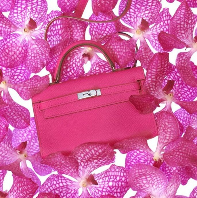 Borsa Kelly in vitello rosa intenso. Hermès